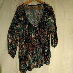 Plus Size Avenue Paisley Tunic Top Size 26/28